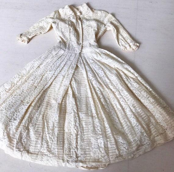 Stunning 1950s Jonathan Logan Lace Shirtdress XS/S