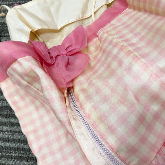 Pretty in Pink 50s Gingham Dress - image 6