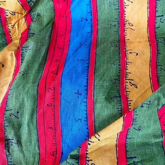 Rainbow Measuring Tape Novelty Print 50s Dress - image 4