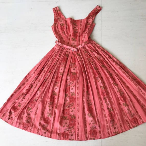 Pretty 1950s Hawaiian Floral Sundress