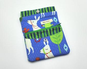 Wallet, Fabric Wallet, Credit Card Wallet, Business Card Holder, Coin Purse, Unisex, Card Slots, Zipper Pocket, Llama, Cactus, Animal