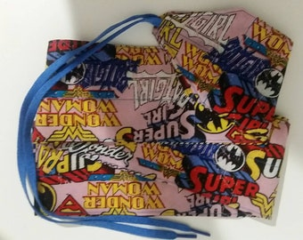 Superhero fabric wrist wraps for crossfit or strength training