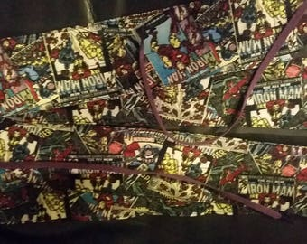 Iron Man fabric wrist wraps for crossfit or strength training
