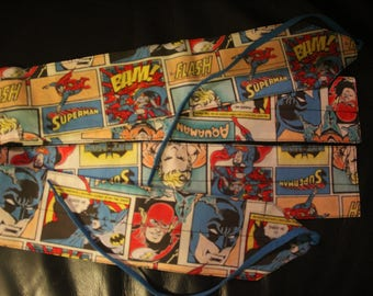 Batman & Superman fabric wrist wraps for crossfit or strength training