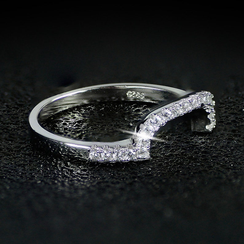 new design Luxury 3 pcs 925 sterling Silver Ring cushion cut Engagement Wedding Ring WITH ENGRAVING