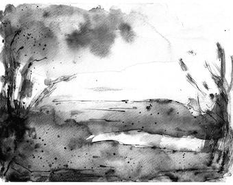 abstract watercolor abstract art print modern watercolor painting abstract landscape art print modern minimalist art watercolor tree art