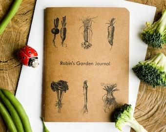 personalised garden journal gardener's notebook gardener gift housewarming gift garden planner allotment planner custom notebook garden art