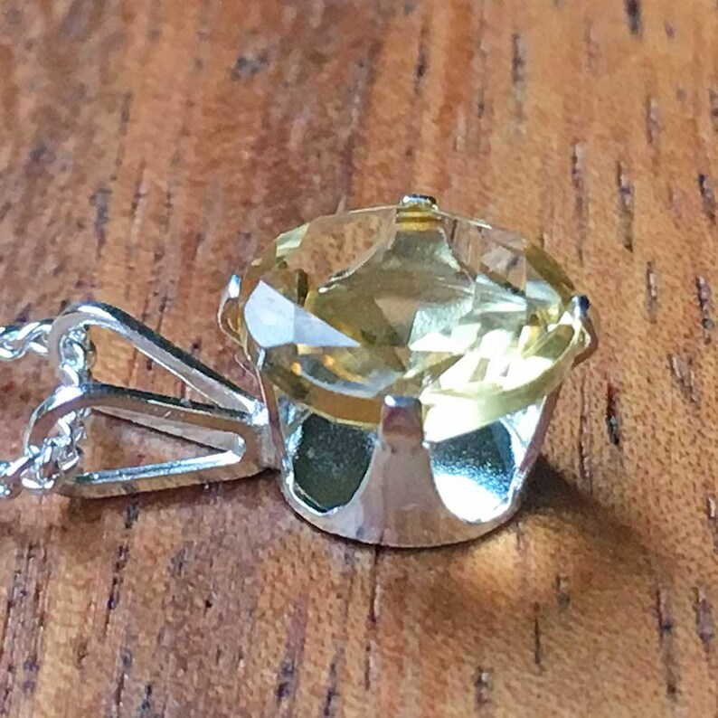 Citrine Pendant Citrine Necklace Sterling Silver Necklace Citrine Jewellery Womens Pendant Womens Jewellery Handmade Pendant