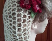 1940s Hairstyles- History of Women's Hairstyles 1940s snoodcrochet snood cream hairnet cream snood $22.14 AT vintagedancer.com
