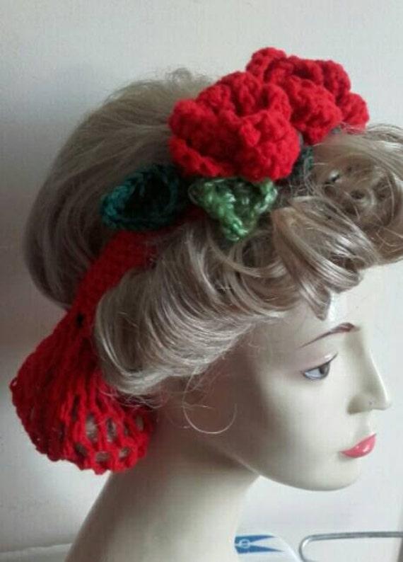 Civil War Reenactment Ladies Day Dress Headband Hair Net Snoods