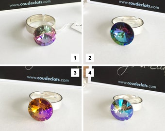"""Ring Silver 925 and Swarovski® - """"Reflections"""" #1 Selection"""
