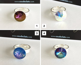 """Ring Silver 925 and Swarovski® - """"Reflections"""" #3 Selection"""
