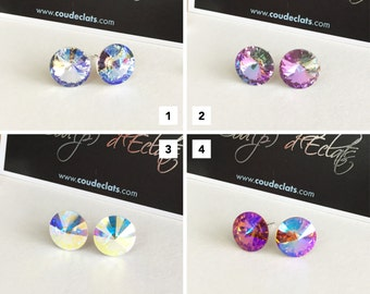 """Stud Earrings Swarovski® and 925 Sterling Silver - """"Reflections"""" #1 Selection"""
