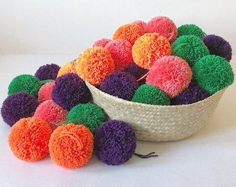 840b67d4f66 Extra large handmade pom poms (9cm) - made to order perfectly trimmed  acrylic wool pom poms - photo prop
