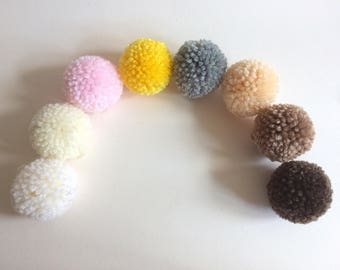 e2931fe146a Small handmade pom poms (4cm) - made to order perfectly trimmed acrylic  wool pom poms - photo prop