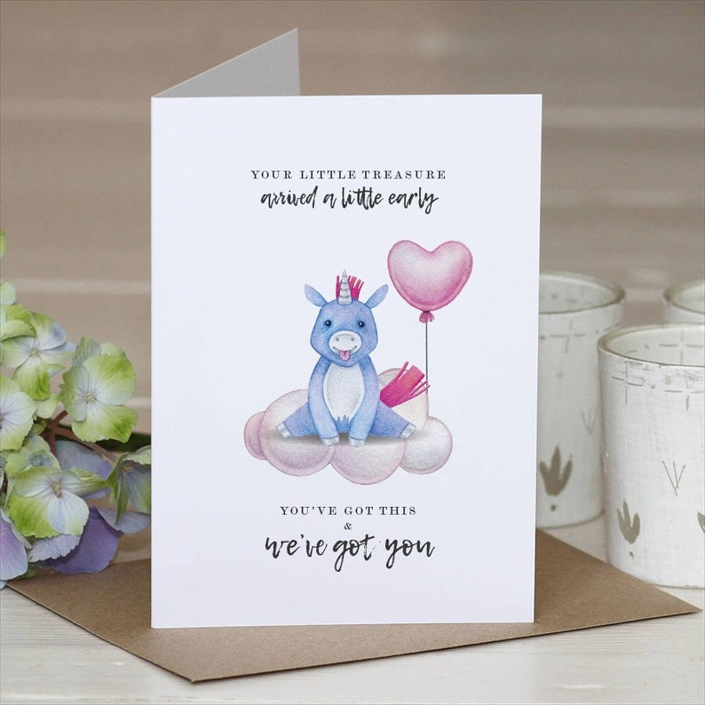 Premature Baby  Premature Baby Card  New Baby  Baby Card  New Mum Card