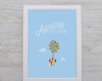 Featured on Buzzfeed // Disney Typographic Print // Disney Poster // Disney Up // Inspirational Quote // Wall Art //  Kids Poster