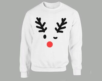 Scarcewear Men/'s Black Christmas Jumper Winter Stag Reindeer//Tree Sweater Gift