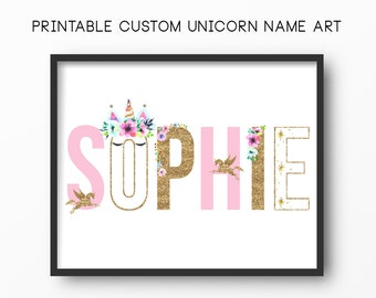06b22b141f64d Custom name art | Etsy