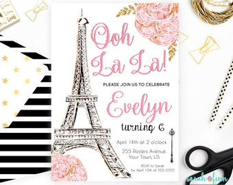 Paris Invitation Etsy