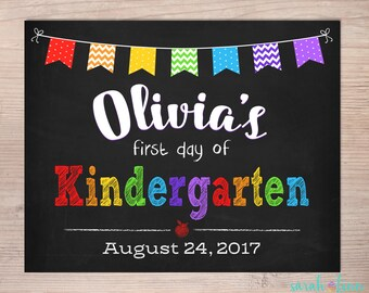 Last Day of School Sign Back To School Sign Chalkboard Sign School Photo Prop First Day of Kindergarten Grade Sign 1st 2nd 3rd 4th