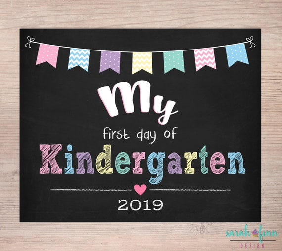 picture regarding First Day of Kindergarten Sign Printable titled My 1st Working day of Kindergarten Very first Working day of Higher education Signal Printable Back again Towards University Indication Very first Working day Fast Obtain Higher education Photograph Prop Woman