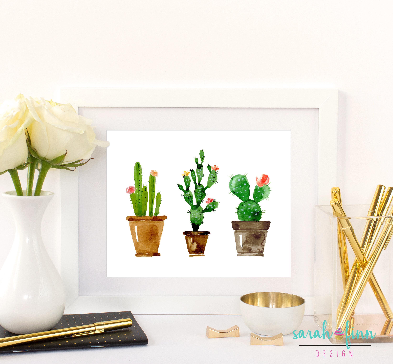 Kaktus-Kunst-Geschenk für ihre Kaktus bedruckbare Geschenk | Etsy