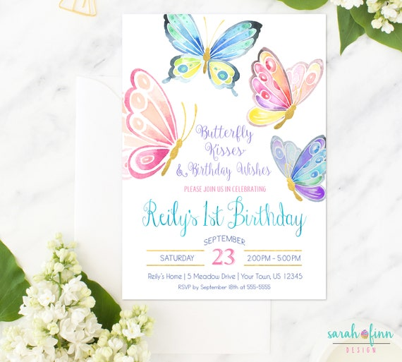 Butterfly Themed Wedding Invitations: Butterfly Invitation Butterfly Birthday Party Birthday