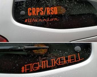 CRPS RSD Ribbon Vinyl Decal Car Window Bumper Sticker
