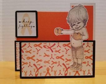 CRPS/RSD Orange Pop-up Support Inspirational Card