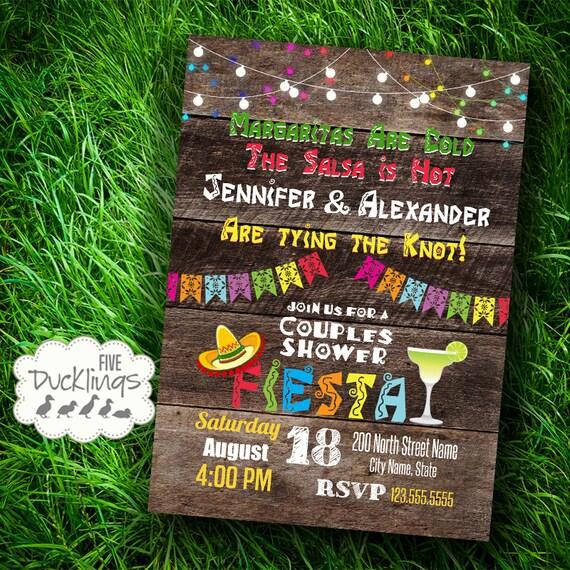 Fiesta Couples Shower Invitation Mexican Party Invite Printable Digital Invitation A358