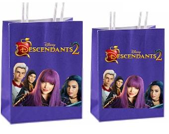 Disney Descendants 2 Party Favor Bags Birthday Inspired Decorations Decor