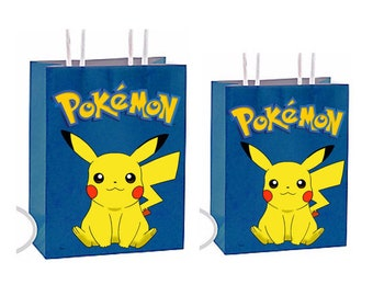 Pokemon Party Favor Gift Bags Birthday Inspired Decorations Decor