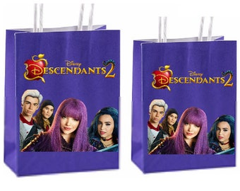 Disney Descendants 2 Party Favor Bags Birthday Inspired Decorations Decor