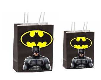 Dc Batman Party Gift Favor Bags Birthday Inspired Decorations Decor