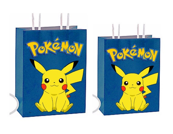 Pokemon Party Favor Gift Bags Birthday Inspired