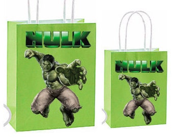 Hulk Party Favor gift Bags~ Hulk Birthday Party Inspired Decorations & Decor