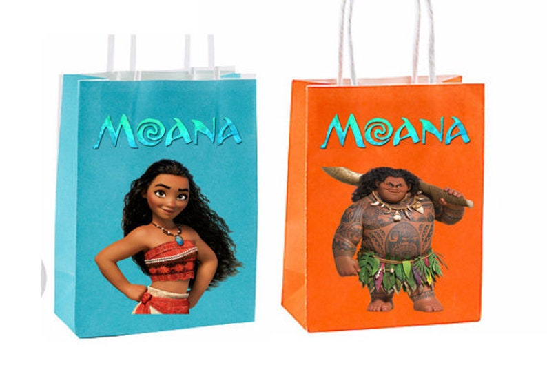 Moana Party Favor Gift Bag Birthday Inspired Decorations