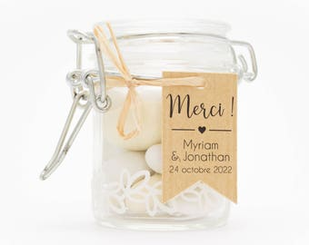10 flags beveled 2.4 x 4 cm, personalized candy containers