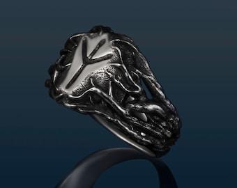 Ring with the rune  Algiz
