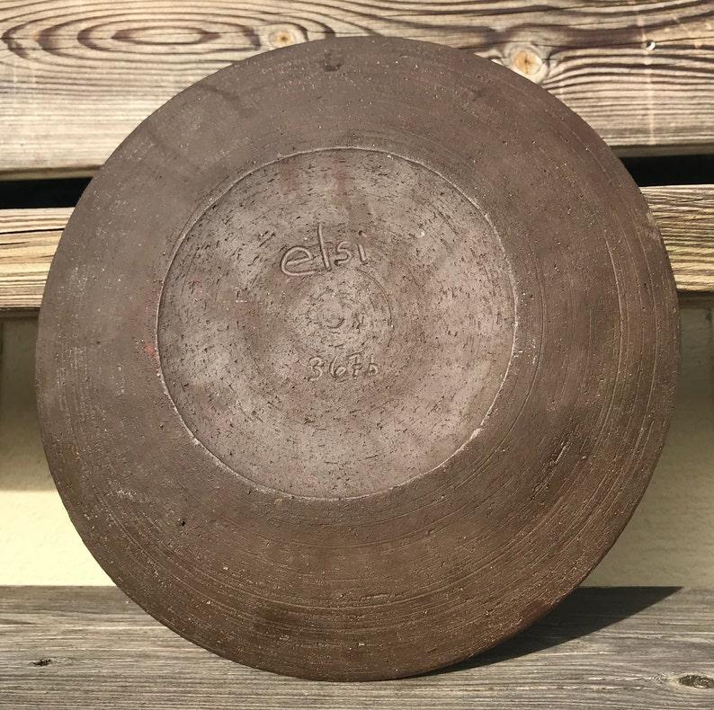 Fish Swedish fine pottery ceramics plate bowl Elsi Bourelius Scandinavia Sweden 60th