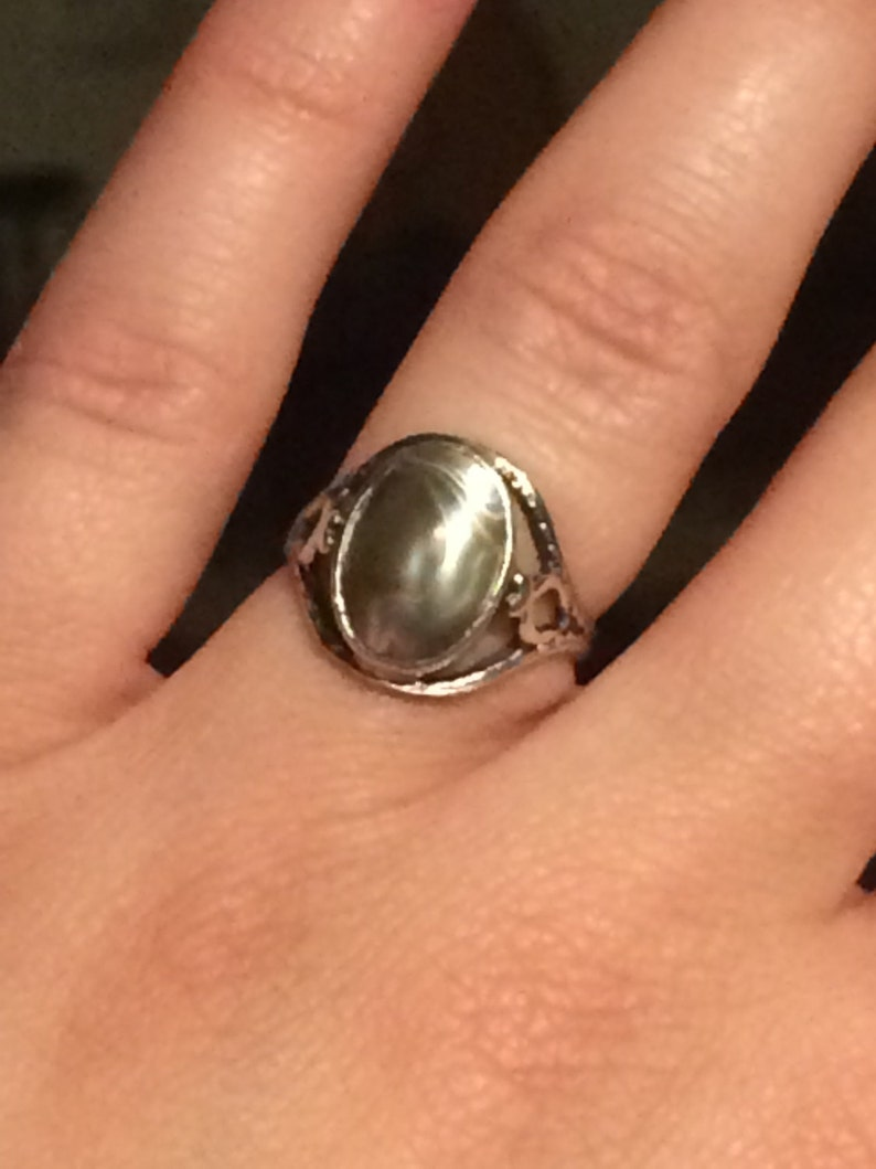 Vintage sterling silver Abalone ring
