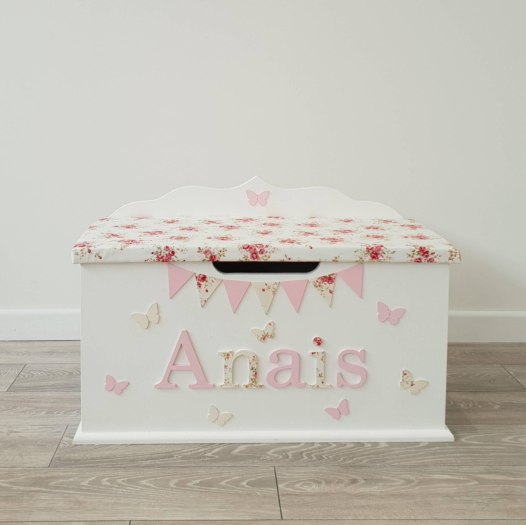 personalised toy box / custom / bespoke / wooden / name / theme / large  size toybox / boys / girls / nursery baby / child