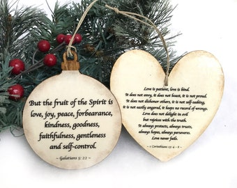 personalized bible verse ornament