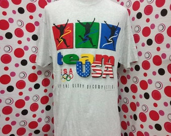 6d454e9a8 Vintage team USA olympic t shirt big size