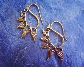 SALE!!! Angel Wings Brass Earrings