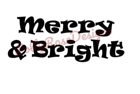 Merry Bright Svg Etsy
