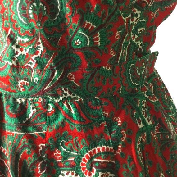 Vintage 1950s Paisley Halter Dress - image 4