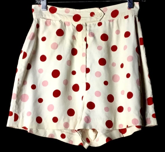 Vintage 1950s Rayon- Sharkskin Ladies Shorts