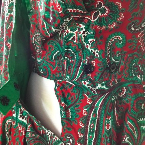 Vintage 1950s Paisley Halter Dress - image 5